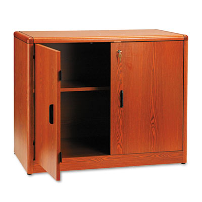 10700 Series Locking Storage Cabinet, 36w x 20d x 29-1/2h, Henna