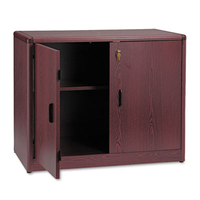 10700 Series Locking Storage Cabinet, 36w x 20d x 29-1/2h, Mahog