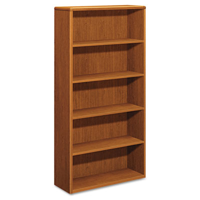 10700 Series Wood Bookcase, Five-Shelf, 36w x 13-1/8d x 71h, Bou