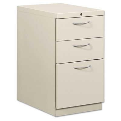 Flagship Mobile Box/Box/File Pedestal, Arch Pull, 22-7/8d, Light