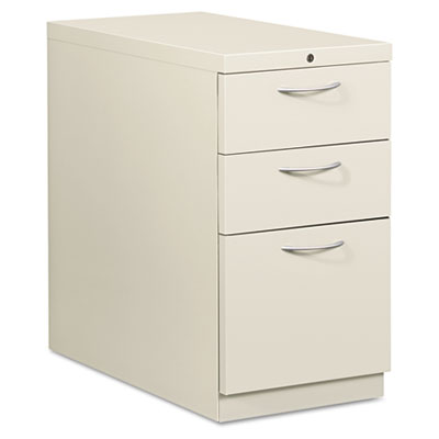 Flagship Mobile Box/Box/File Pedestal, Arch Pull, 28-7/8d, Light