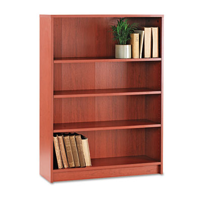 1870 Series Bookcase, Four-Shelf, 36w x 11-1/2d x 48-3/4h, Henna