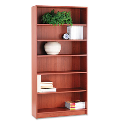 1870 Series Bookcase, Six-Shelf, 36w x 11-1/2d x 72-5/8h, Henna