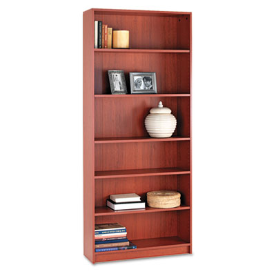 1870 Series Bookcase, Six-Shelf, 36w x 11-1/2d x 84h, Henna Cher