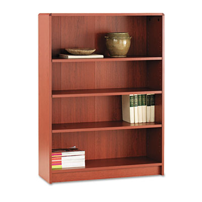 1890 Series Bookcase, Four-Shelf, 36w x 11-1/2d x 48-3/4h, Henna