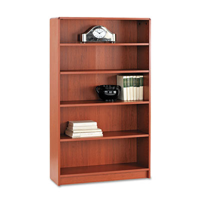 1890 Series Bookcase, Five-Shelf, 36w x 11-1/2d x 60-1/8h, Henna