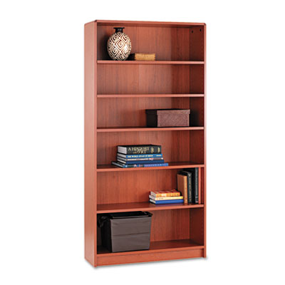 1890 Series Bookcase, Six-Shelf, 36w x 11-1/2d x 72-5/8h, Henna