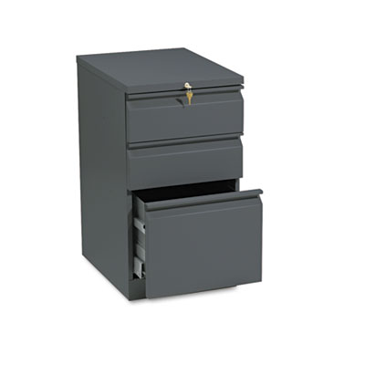 Efficiencies Mobile Pedestal File w/One File/Two Box Drawers, 19
