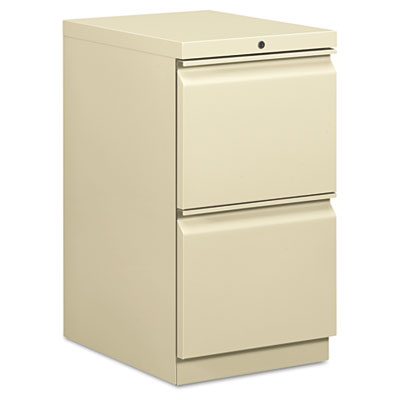 Efficiencies Mobile Pedestal File w/Two File Drawers, 19-7/8d, P