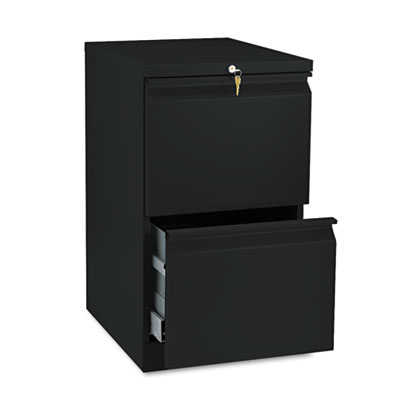 Efficiencies Mobile Pedestal File w/Two File Drawers, 19-7/8d, B