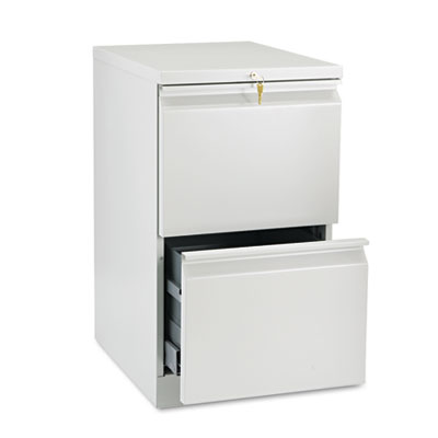Efficiencies Mobile Pedestal File w/Two File Drawers, 19-7/8d, L