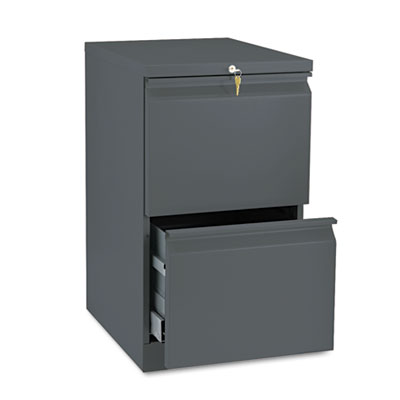 Efficiencies Mobile Pedestal File w/Two File Drawers, 19-7/8d, C
