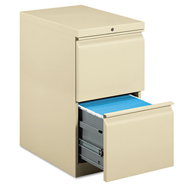 Efficiencies Mobile Pedestal File w/Two File Drawers, 22-7/8d, P