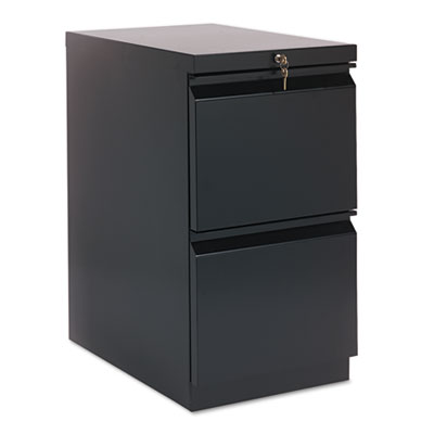 Efficiencies Mobile Pedestal File w/Two File Drawers, 22-7/8d, B