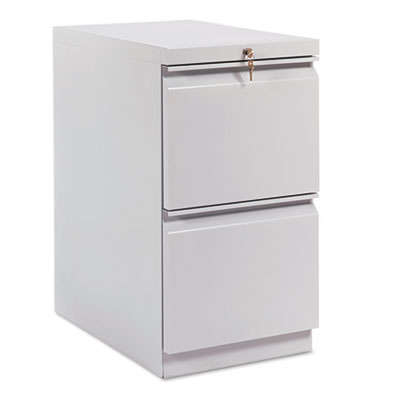 Efficiencies Mobile Pedestal File w/Two File Drawers, 22-7/8d, C