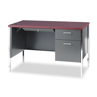 34000 Series Right Pedestal Desk, 45-1/4w x 24d x 29-1/2h, Mahog