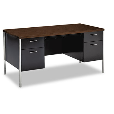 34000 Series Double Pedestal Desk, 60w x 30d x 29-1/2h, Columbia