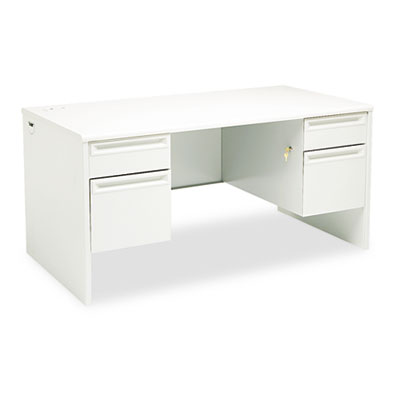 38000 Series Double Pedestal Desk, 60w x 30d x 29-1/2h, Light gr