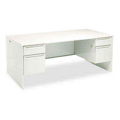 38000 Series Double Pedestal Desk, 72w x 36d x 29-1/2h, Light Gr