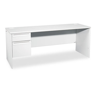 38000 Series Left Pedestal Credenza, 72w x 24d x 29-1/2h, Light