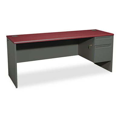 38000 Series Right Pedestal Credenza, 72w x 24d x 29-1/2h, Mahog