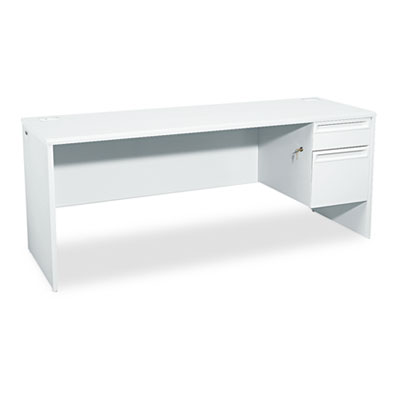 38000 Series Right Pedestal Credenza, 72w x 24d x 29-1/2h, Light