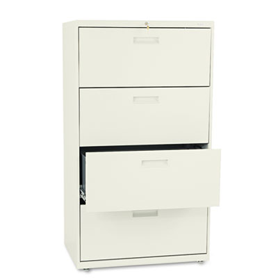 500 Series Four-Drawer Lateral File, 30w x 19-1/4d x 53-1/4h, Pu