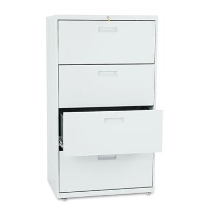 500 Series Four-Drawer Lateral File, 30w x 19-1/4d x 53-1/4h, Li