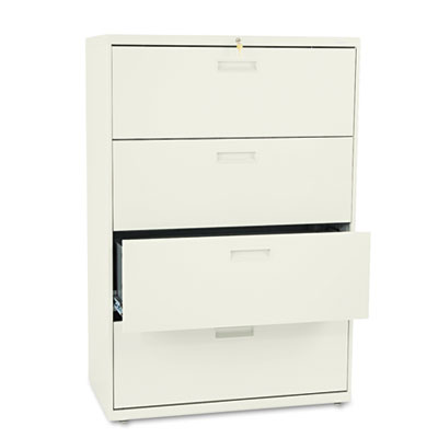 500 Series Four-Drawer Lateral File, 36w x 19-1/4d x 53-1/4h, Pu