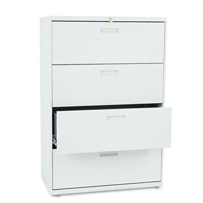 500 Series Four-Drawer Lateral File, 36w x 19-1/4d x 53-1/4h, Li