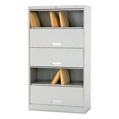 600 Series Six-Shelf Steel Receding Door File, 36w x 16-3/4d x 6