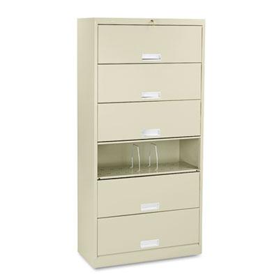 600 Series Six-Shelf Steel Receding Door File, 36w x 16-3/4d x 7
