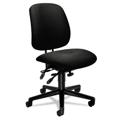 7700 Series Asynchronous Swivel/Tilt Task chair, Seat Glide, Bla