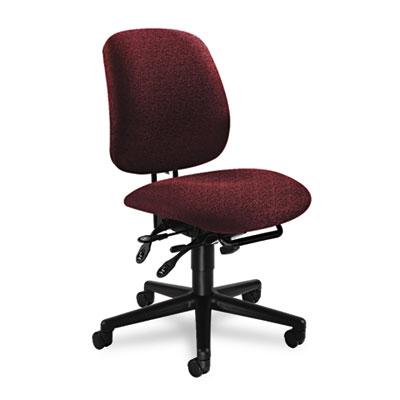 7700 Series Asynchronous Swivel/Tilt Task Chair, Seat Glide, Bur