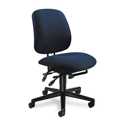 7700 Series Asynchronous Swivel/Tilt Task Chair, Seat Glide, Blu