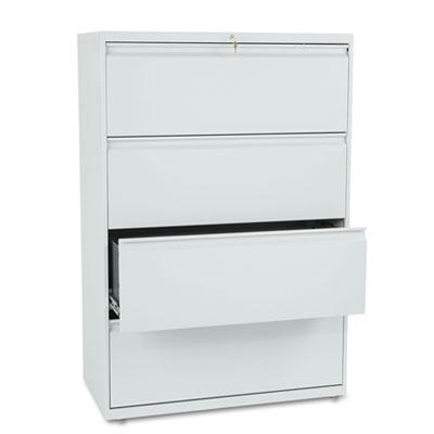 800 Series Four-Drawer Lateral File, 36w x 19-1/4d x 53-1/4h, Li