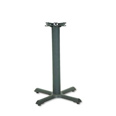 Single Column Cast Iron Base, 22w x 22d x 27-7/8h, Black