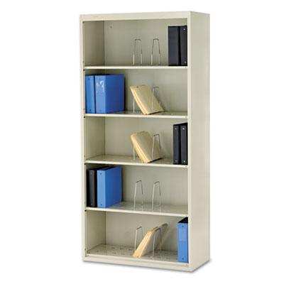 600 Series Jumbo Steel Open File, Six-Shelf, 36w x 16-3/4d x 75-