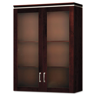 Announce Series Bookcase Hutch, Glass Doors, 36w x 14-3/4d x 48h