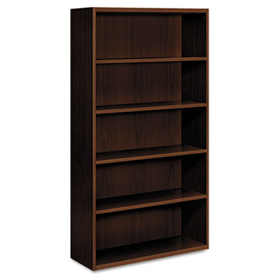 Arrive Wood Veneer Five-Shelf Bookcase, 36w x 15-1/8d x 71-1/2h,