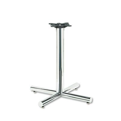 Single Column Steel Base, 26w x 26d x 27-7/8h, Chrome