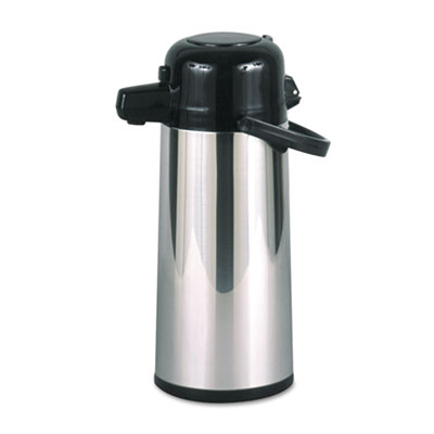 Commercial Grade 2.2L Airpot, w/Push-Button Pump, Stainless Stee
