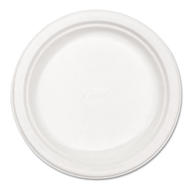 "Classic Paper Plates, 8 3/4"" dia, White, 125/Pack"
