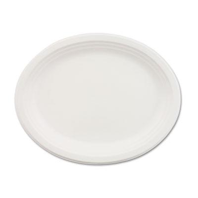 Classic Paper Dinnerware, Oval Platter, 9 3/4 x 12 1/2, White, 5