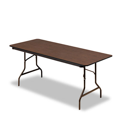 Economy Wood Laminate Folding Table, Rectangular, 72w x 30d x 29