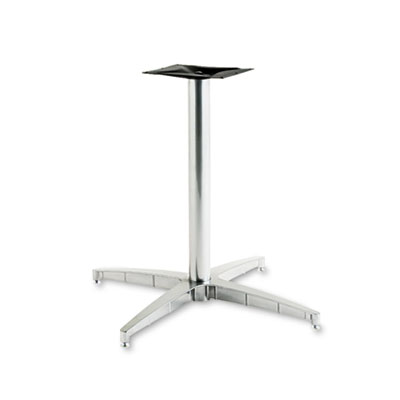 OfficeWorks Pedestal Base for Round Table Tops, 31w x 29h, Silve