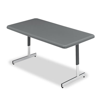 Adjustable Height Tables, 60w x 30d x 21-31h, Charcoal