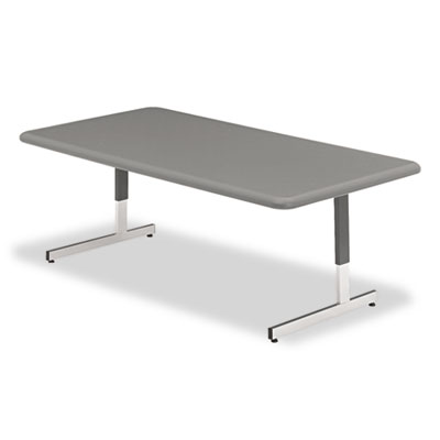 Adjustable Height Tables, 48w x 24d x 21-31h, Charcoal