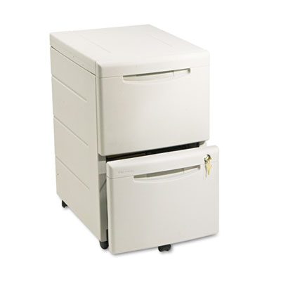 Aspira Mobile Underdesk Pedestal File, Resin, Two File Drawers,