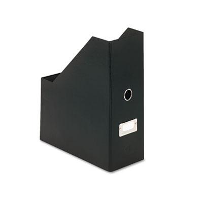 Heavy-Duty Fiberboard Magazine File with PVC Laminate, 4 1/2 x 1